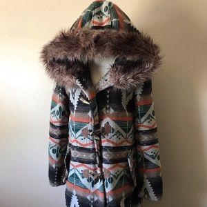 FAMOUS BB Dakota Native American blanket coat